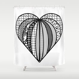 heart made from pieces Shower Curtain