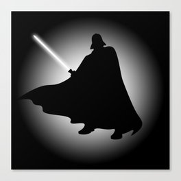 Vader Sithouette (B/W) Canvas Print