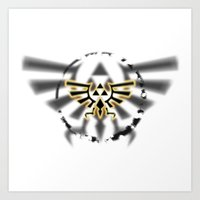 triforce Art Prints featuring Triforce by Otis Zanzibar