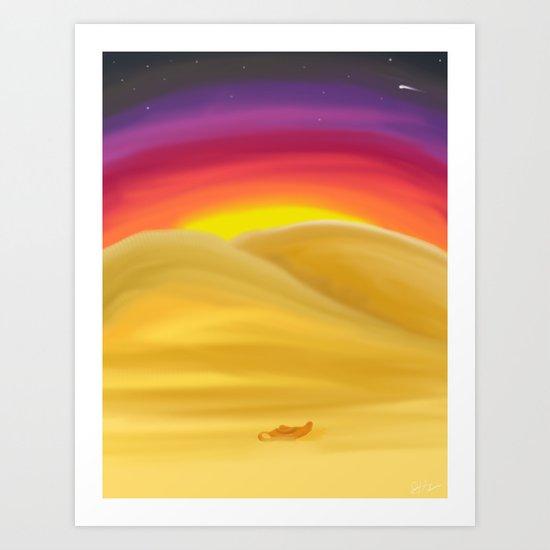 Desert Night Art Print