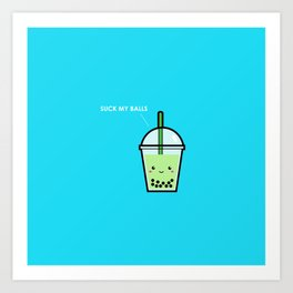 Bubble Tea Balls Art Print