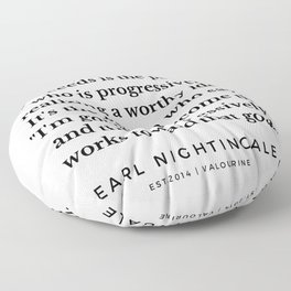 28 |  Earl Nightingale Quotes | 190829 Floor Pillow