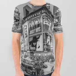 Times Square III Special Edition I (black & white) All Over Graphic Tee