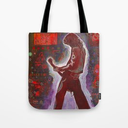 Rock and Roll in Red Tote Bag