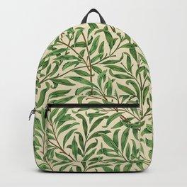 William Morris. Willow Bough Vintage Remix Illustration. Backpack