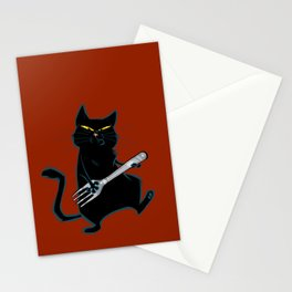 Cat with a fork Stationery Cards