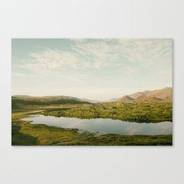 The lake by the mountains II Canvas Print