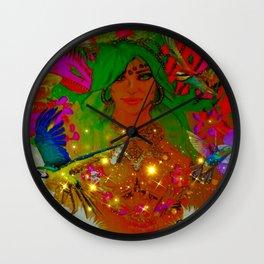 Lit queen RiRi Wall Clock
