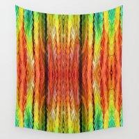 crane Wall Tapestries featuring Paper Crane Strings by Bestree Art Designs