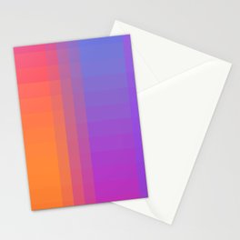 Squares and Stripes Four Stationery Cards