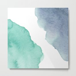 Watercolor Drops Metal Print
