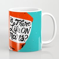 kubrick Mugs featuring Life On Mars? by Derek Eads