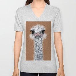 Ostrich animal Unisex V-Neck