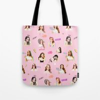 ultraviolence Tote Bags featuring lanapattern by evenstarss