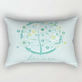 Tree of Life Floral Damask Watercolor Pattern Rectangular Pillow
