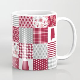Alabama university crimson tide quilt pattern college sports alumni gifts Coffee Mug