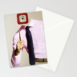Business Man Alarm Stationery Cards