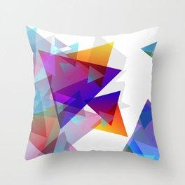 Kaleidoscopic Fragments Throw Pillow