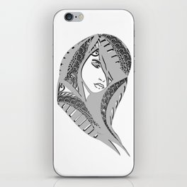 zentangle portrait 6 iPhone Skin