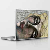 blondie Laptop & iPad Skins featuring Blondie by The Waking Artist
