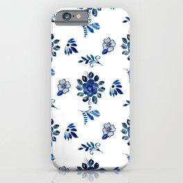 Blue Spanish Florals iPhone Case
