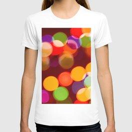 Retro Rainbow Bokeh Christmas Ligths T-shirt