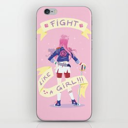 Fight like a girl 2.0 iPhone Skin