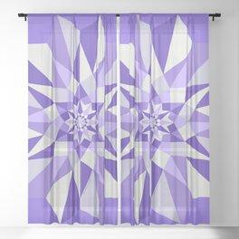 Diamond Purple Mandala Sheer Curtain
