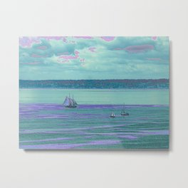 Aqua Sails Metal Print