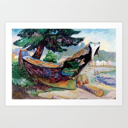 Emily Carr - Indian War Canoe, Alert Bay - Canada, Canadian Oil Painting - Group of Seven Art Print