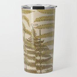 Vintage Fern Botanical Travel Mug