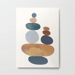 Balancing Stones 31 Metal Print