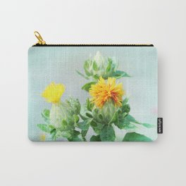 Yellow Safflower (Carthamus Tinctorius Yellow)  Carry-All Pouch