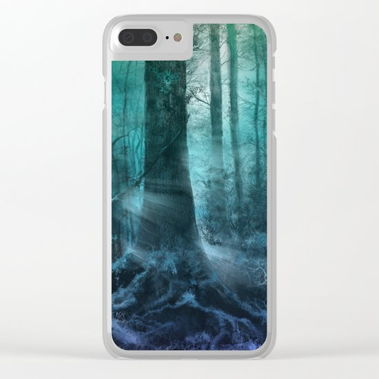 magical forest landscape Clear iPhone Case
