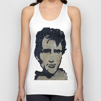 kerouac Tank Tops featuring Jack Kerouac: Get On The Beat  by Emily Storvold