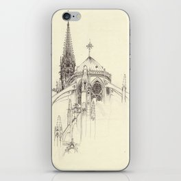 Notre Dame Cathedral Sketch iPhone Skin
