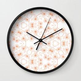 Daisy Chain Orange Wall Clock