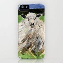 Big fat woolly sheep iPhone Case