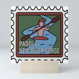 PADDLE NEW RIVER GORGE  Mini Art Print