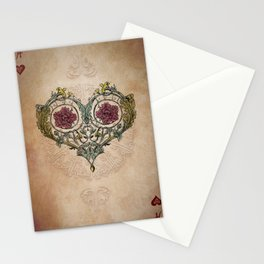 Arabesque Deck of Cards Ace Hearts Stationery Cards
