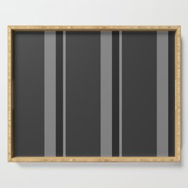 Strips - gray. Serving Tray