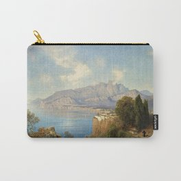 View of Sorrento Italy by Oswald Achenbach Italian Landscape Carry-All Pouch
