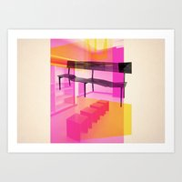 bauhaus Art Prints featuring Bauhaus by mJdesign