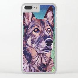 American Alsatian - Wolf Hybrid Clear iPhone Case