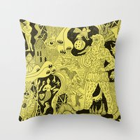 wizard Throw Pillows featuring Wizard Dreams by Josh Ln