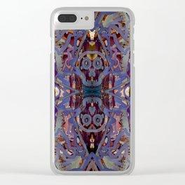 Skulls Purple Rouge Clear iPhone Case