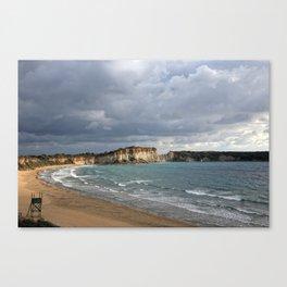 cloudy beach Canvas Print