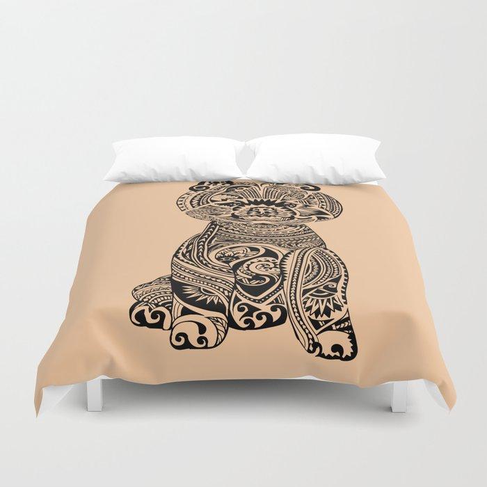 Polynesian Pomeranian Duvet Cover