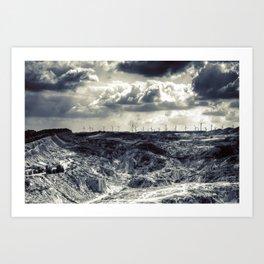 Bardenas Reales desert - Caparosso Art Print
