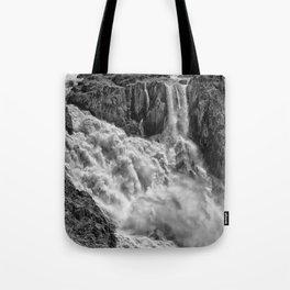 Black and White Beautiful Waterfall Tote Bag